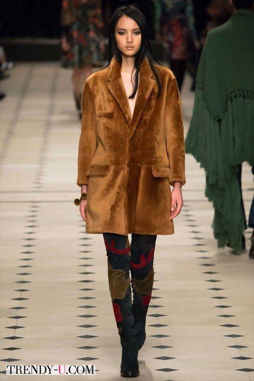 Укороченное меховое пальто Burberry Prorsum
