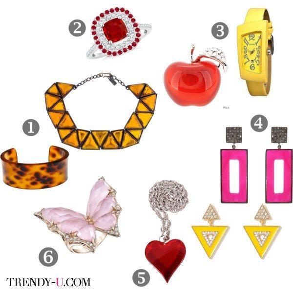 Модные украшения в подарок девушке в год желтой собаки