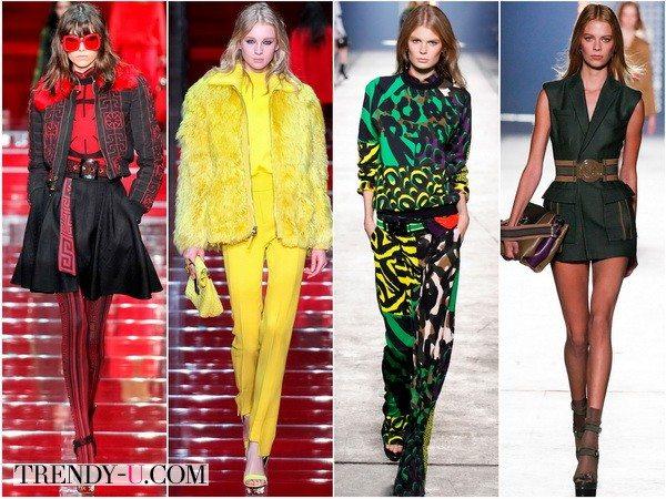 Яркие показы Versace