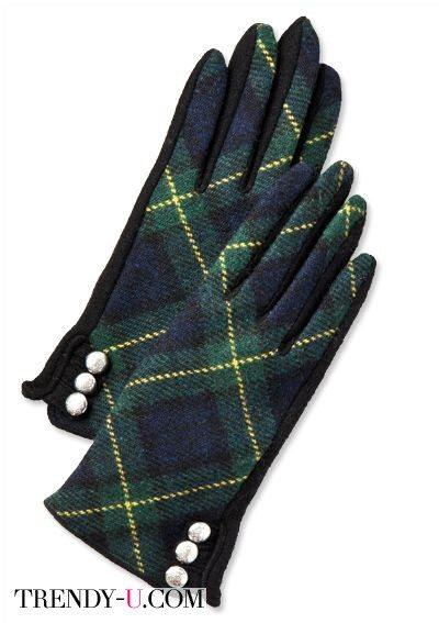 Перчатки в шотландскую клетку