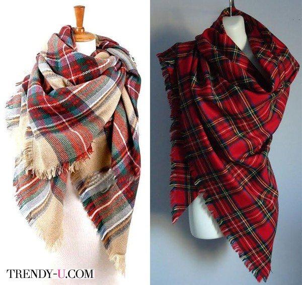 Платки в шотландку
