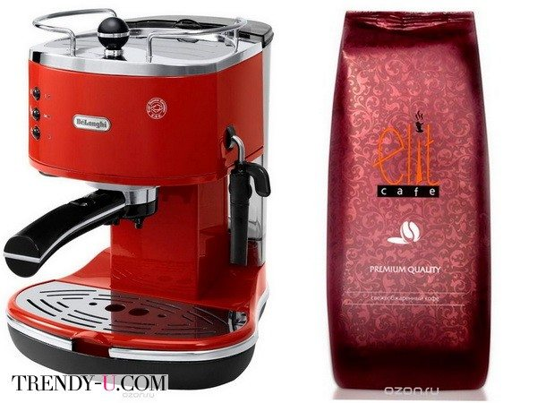 Кофемашина и кофе в подарок на Новый год 2019