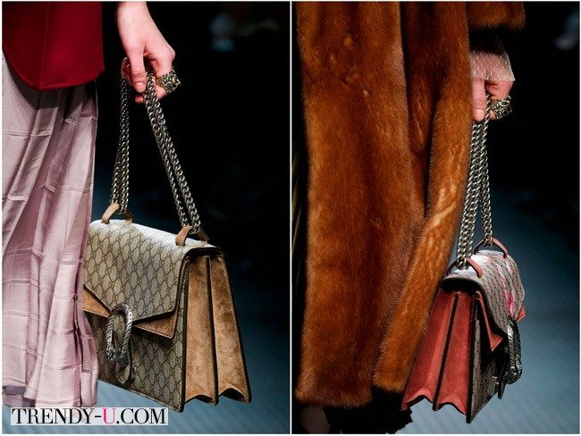 Сумки-портфели от Gucci из кожи и замши
