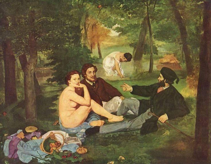 Эдуар Мане. Завтрак на траве. 1863 г. Д'Орсэ, Париж