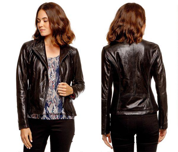 Женская кожаная куртка из интернет-магазина Том Тейлор