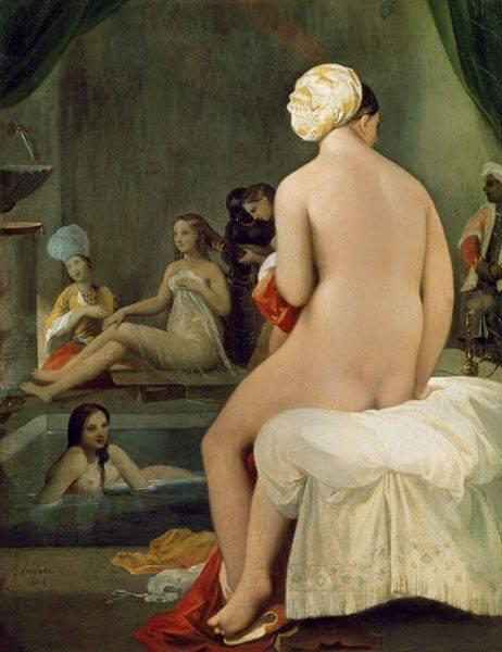Жан-Огюст Доминик Энгр. Турецкая баня (фрагмент). 1862 г. Лувр, Париж