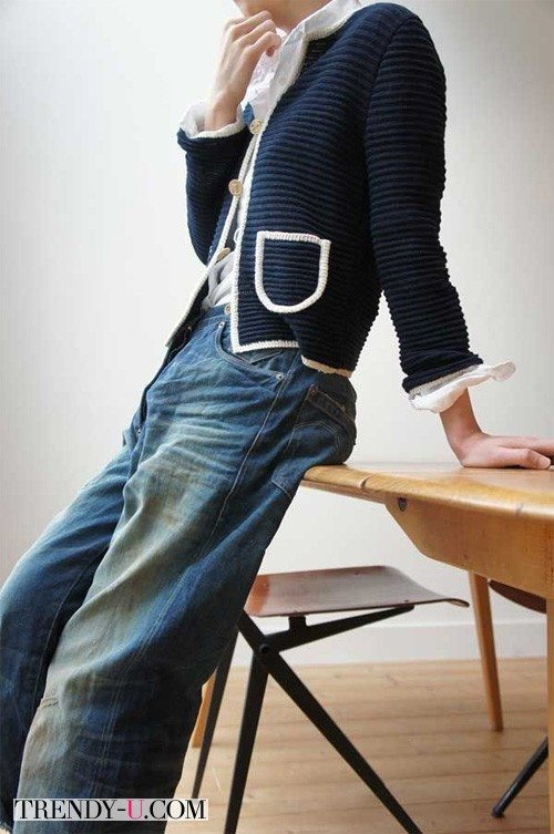 Девушка в стильной одежде. Фрагмент