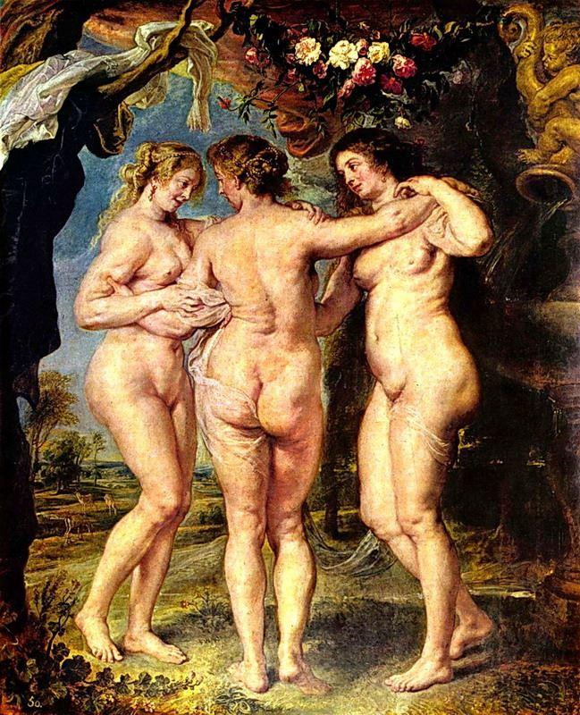 Питер-Пауль Рубенс. Три грации. 1639 г. Прадо, Мадрид