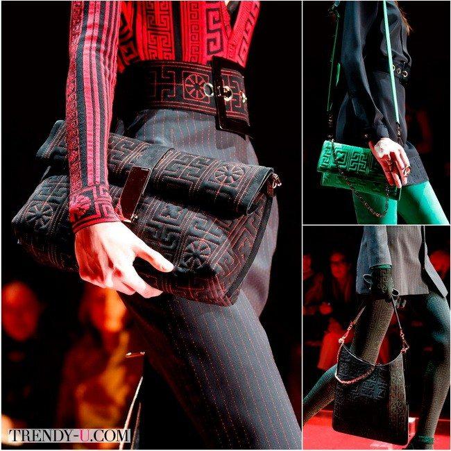 Сумки Versace из кожи или текстиля шикарны и удобны