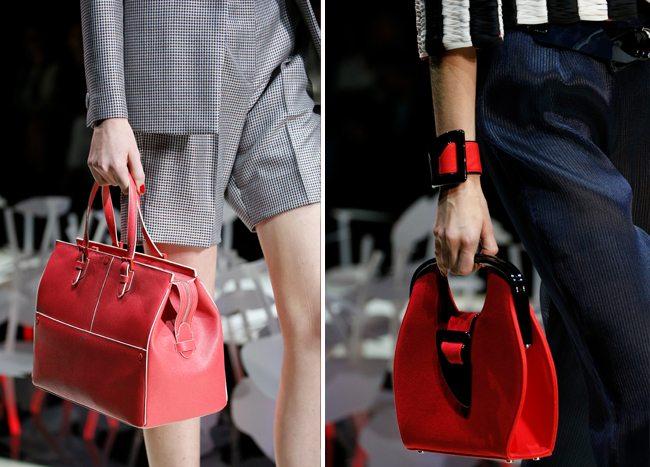 Модные красные сумки весна-лето 2016 от Giorgio Armani