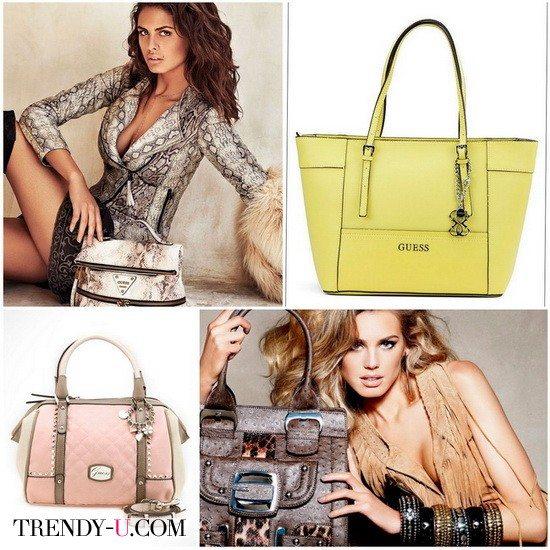 Итальянские сумки бренда Guess могут быть традиционно классическими и трендовыми