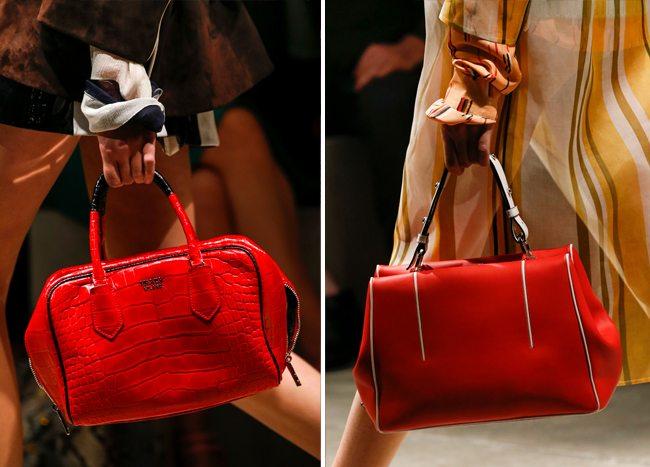 Модные красные сумки весна-лето 2016 от Prada