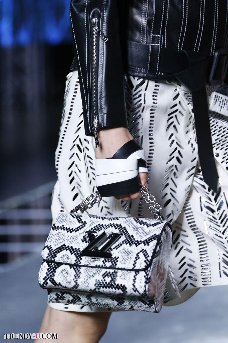 Модная сумка со змеиным принтом, Louis Vuitton SS 2016