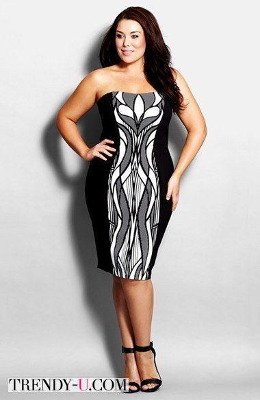 Модное вечернее платье с вставкой в стиле Art Deco