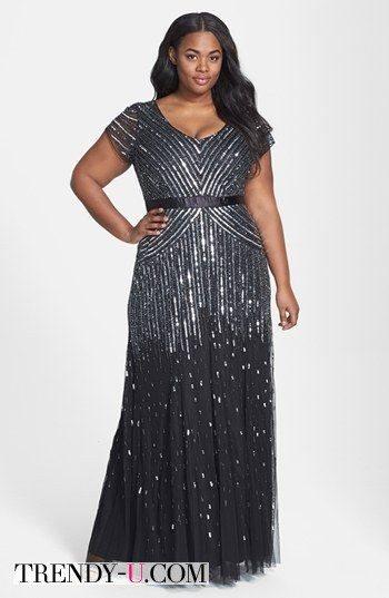 Вечернее платье с оптической иллюзией - подчеркивает талию