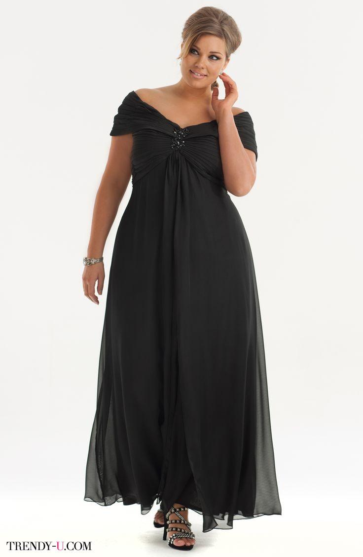 Вечернее платье для полных с драпировкой