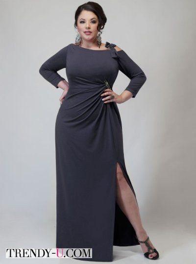Вечернее платье с драпировкой на животе
