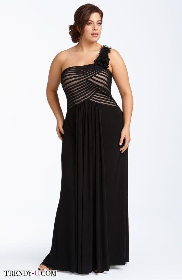 Вечернее платье, подчеркивающее талию за счет оптической иллюзии