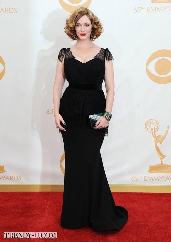 Кристина Хендрикс в черном вечернем платье