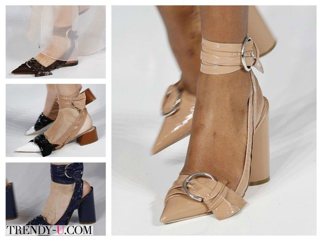 Модные туфли с острыми носами, весна-лето 2016, Christian Dior