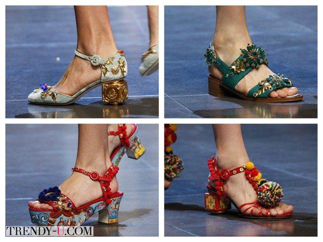 Яркие модные босоножки, весна-лето 2016, Dolce & Gabbana