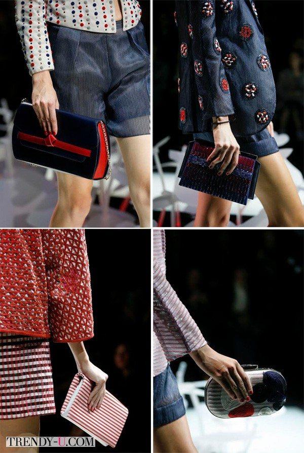 Модные клатчи, Armani, весна-лето 2016
