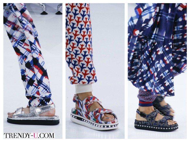 Модные и удобные сандалии, весна-лето 2016, Chanel