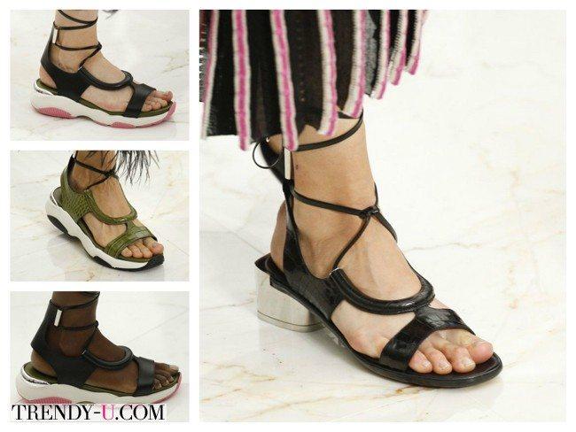 Модные кожаные сандалии, весна-лето 2016, Salvatore Ferragamo