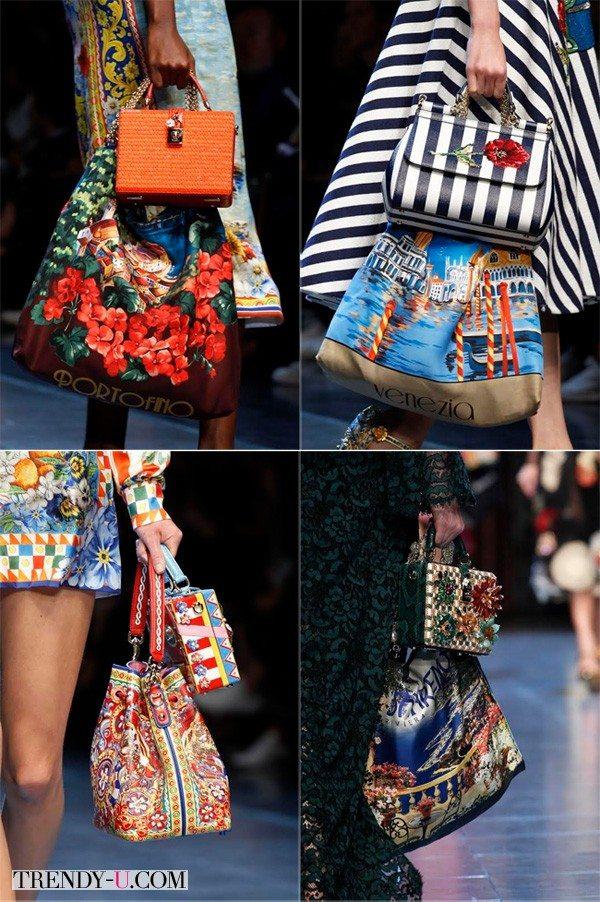 Яркие сумки, дорого-богато, да по две сразу, Dolce & Gabbana сезона весна-лето 2016
