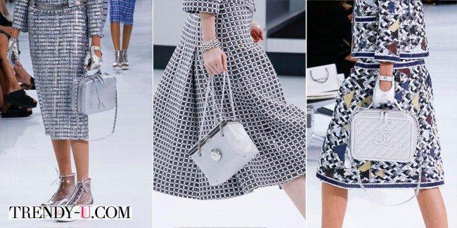 Модные серебристые кожаные сумки от Chanel весна-лето 2016