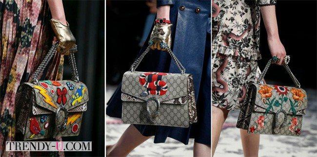 Модные и экстравагантные сумки от Gucci весна-лето 2016