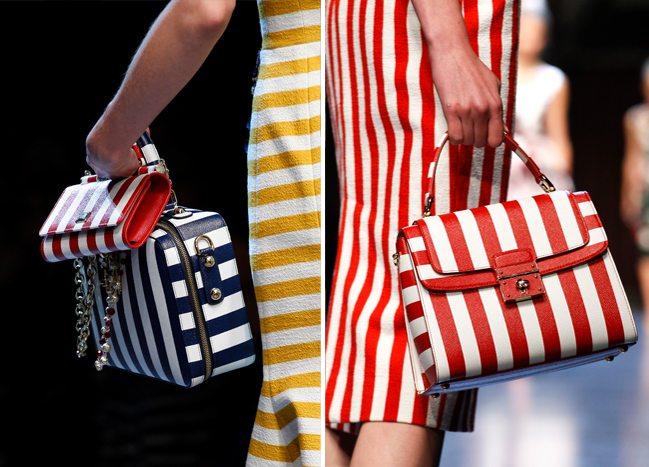 Полосатые сумочки от Dolce & Gabbana для весны и лета 2016