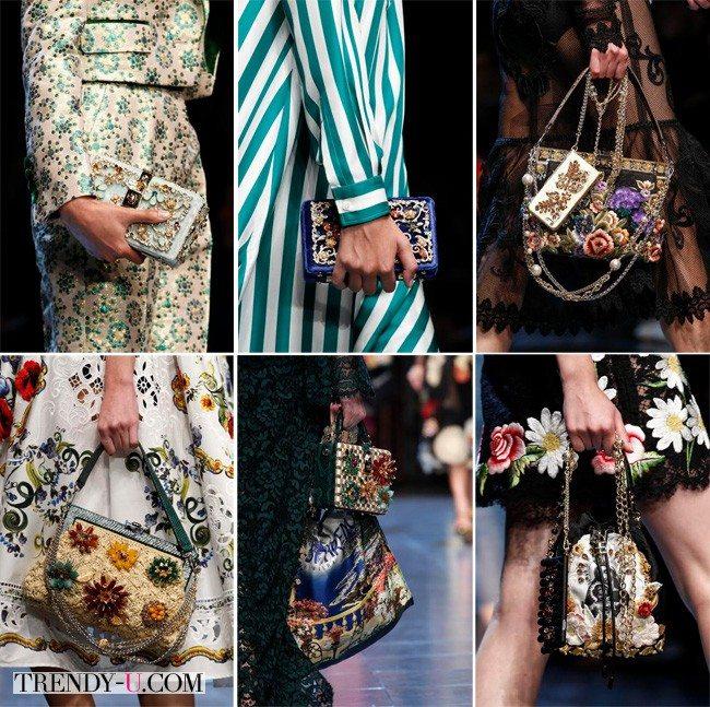 Модные сумки, ярче некуда, Dolce & Gabbana, весна-лето 2016