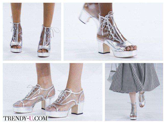 Прозрачные летние туфли, весна-лето 2016, Chanel