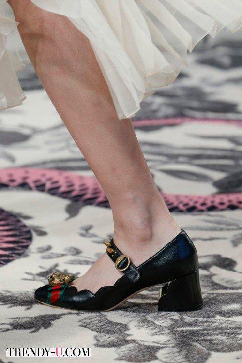 Модные туфли на устойчивом каблуке, весна-лето 2016, Gucci