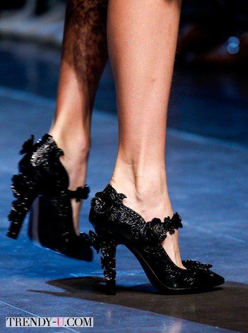 Черные летние туфли, весна-лето 2016, Dolce & Gabbana