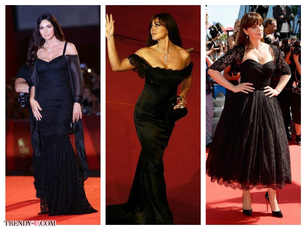 Красивые кружевные платья на Монике Белуччи