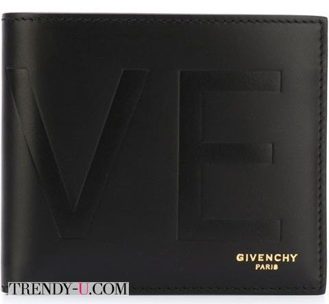 Кожаное портмоне Givenchy с тиснением