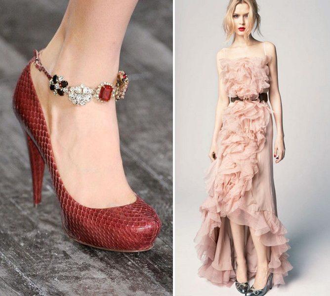 Платье и туфли для романтичных