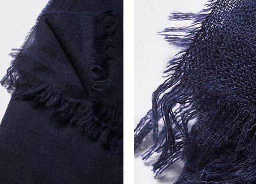синий шарф из тонкой шерсти Vassa