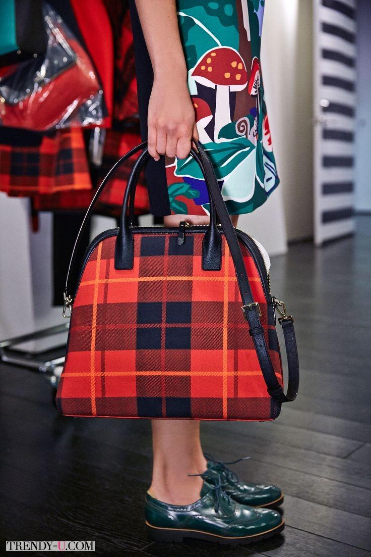 Модная сумка 2015 в шотландскую клетку