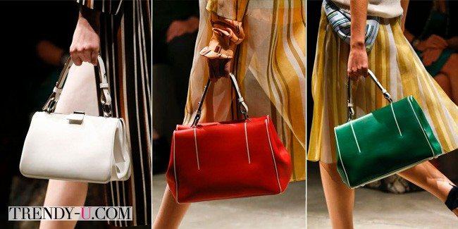 Модные классические сумки, Prada, Весна-лето 2016