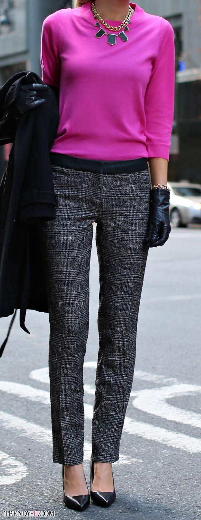 Элегантные брюки из твида