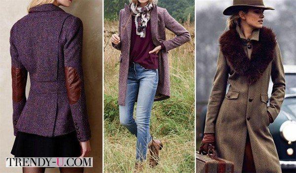Твидовые пиджаки и пальто