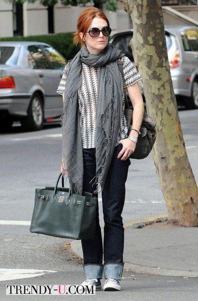 Джулианна Мур с сумкой Birkin Bag Hermes