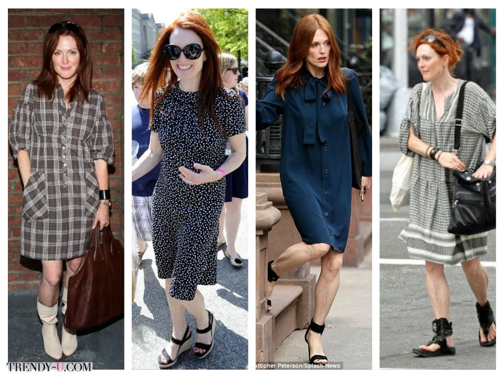 Стиль Джулианны Мур: повседневные платья
