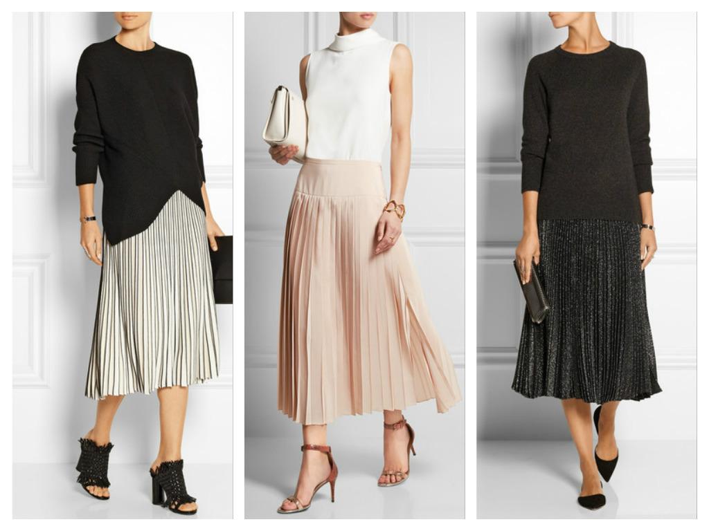 Модный тренд сезона Весна 2016 - плиссированная юбка