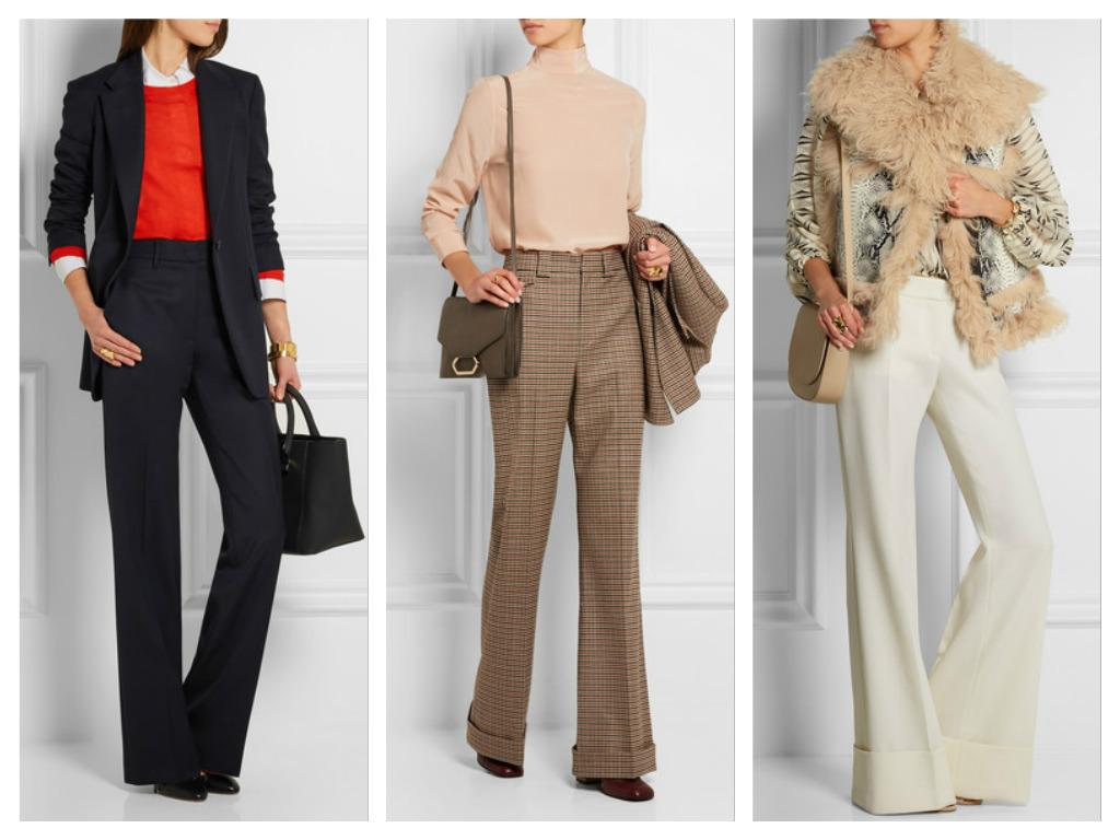 Идеально для офиса - длинные расклешенные брюки
