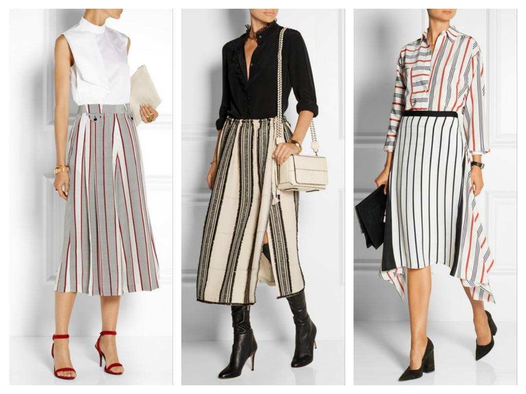 Стильная деловая одежда в полоску