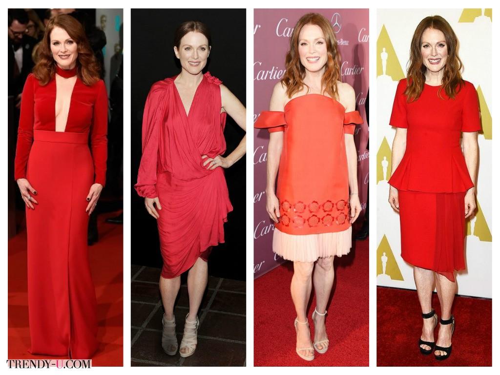 Сочный алый цвет - отличная оправа для рыжих!